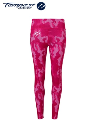 Tempest Women's performance Hexoflage leggings - Pink