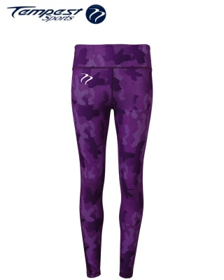 Tempest Women's performance Hexoflage leggings - Purple