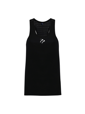 Tempest Women's performance 'laser cut' scooped vest - Black