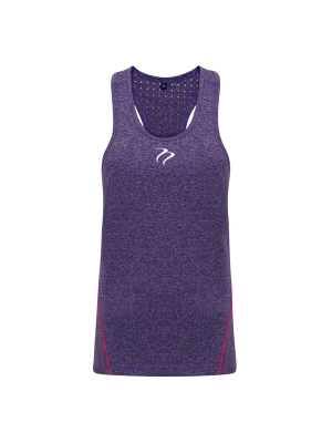 Tempest Women's performance 'laser cut' scooped vest - Purple Melange