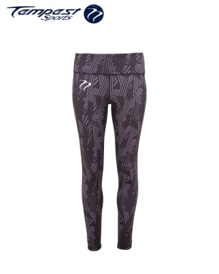 Tempest Women's performance crossline leggings full-length - Charcoal