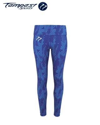 Tempest Women's performance crossline leggings full-length - Royal
