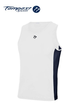 Tempest White Navy Men's Training Vest