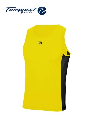 Tempest Yellow Black Men's Training Vest