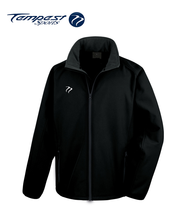 Tempest Black Grey Soft Shell Womens Jacket
