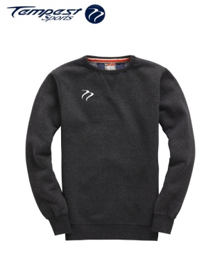 Tempest Heavyweight Sweater - Black Melange