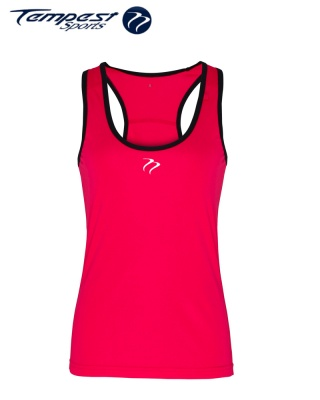 Tempest Women's performance panelled fitness vest - Pink Black
