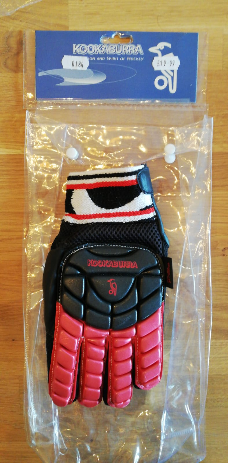 Kookaburra Full Hand Protection Glove Black/Red