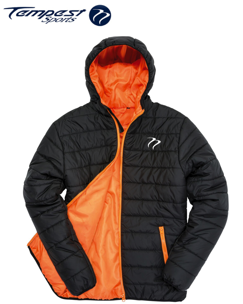 Tempest Padded Jacket Black Orange