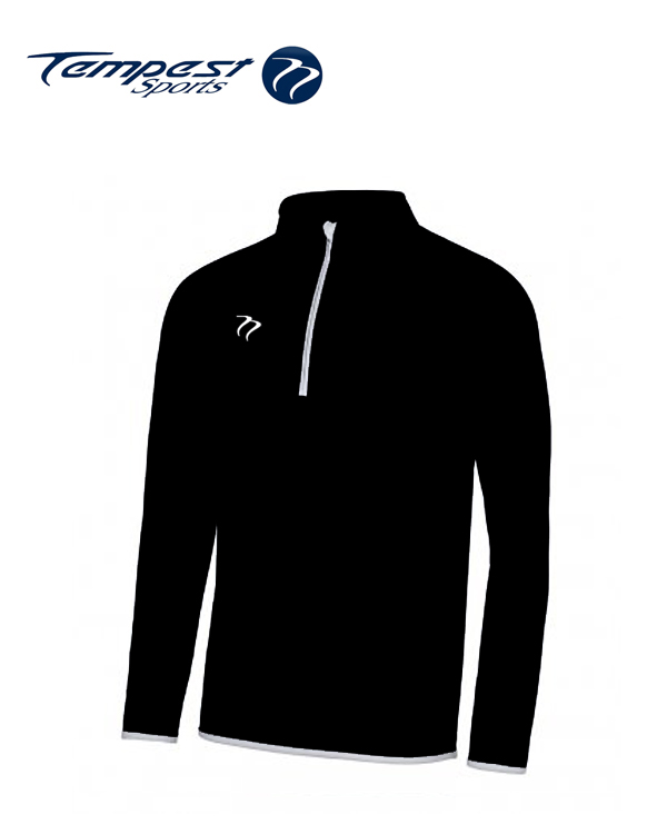 Tempest Mens Black White Half Zip Midlayer