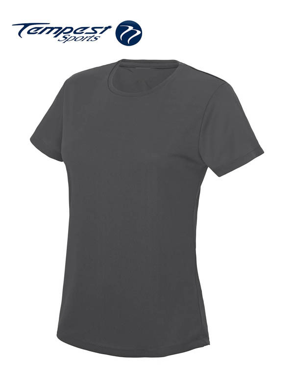 Tempest Women's Charcoal Grey Training T-shirt