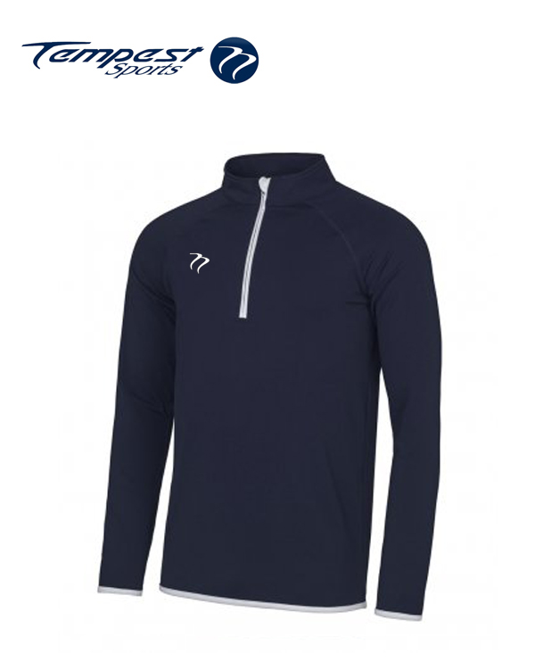 Tempest Mens Navy White Half Zip Midlayer