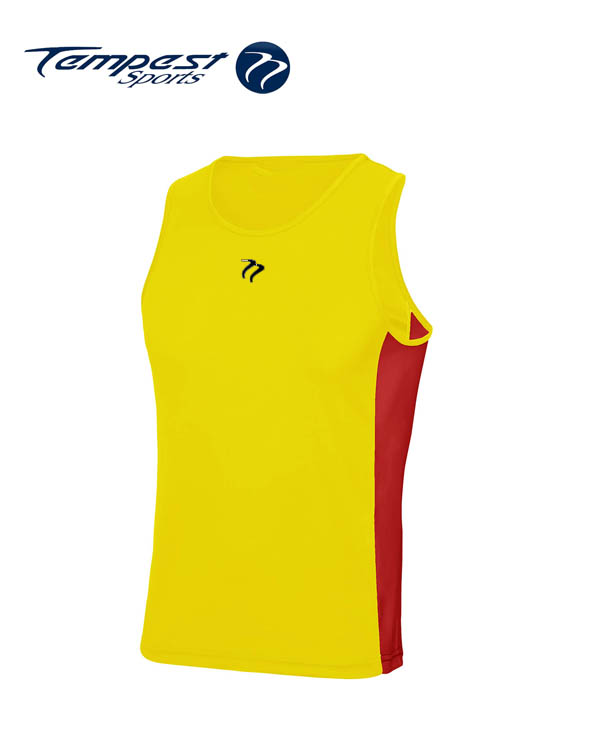 Tempest Yellow Red Men's Training Vest