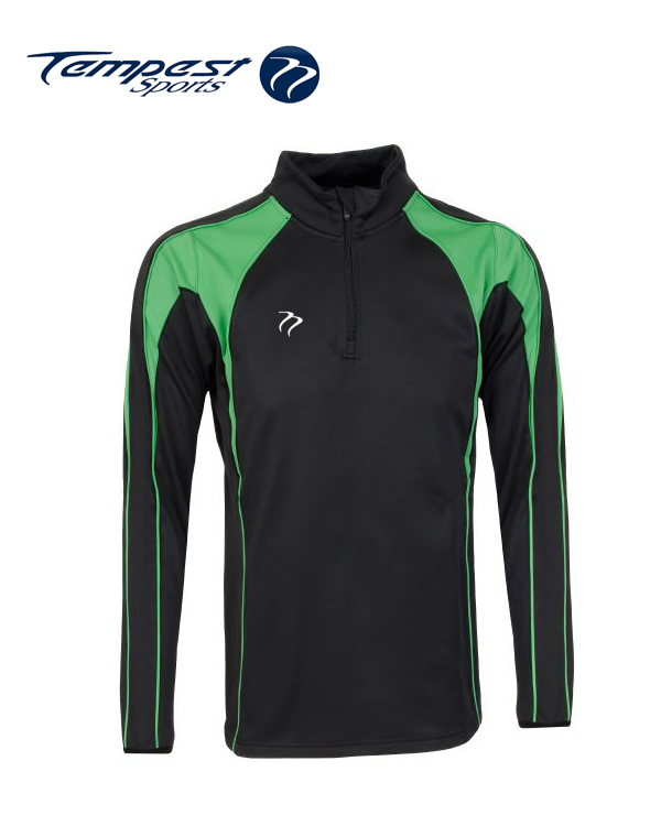 Tempest CK Black Green Half Zip Midlayer