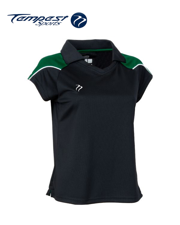 Tempest CK Womens Black Green Playing Shirt