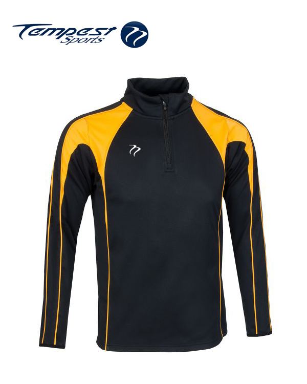 Tempest CK Black Yellow Half Zip Midlayer