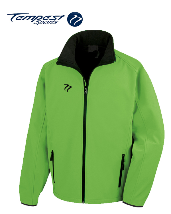 Tempest Lime Green Black Soft Shell Womens Jacket