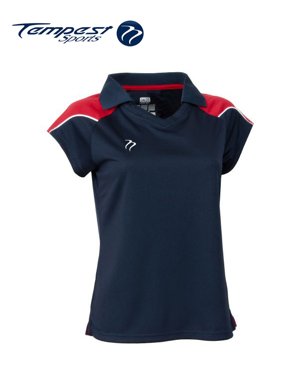 Tempest CK Womens Navy Red Playing Shirt