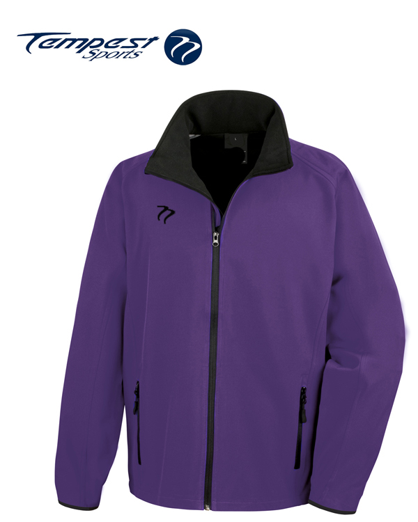 Tempest Purple Black Soft Shell Jacket