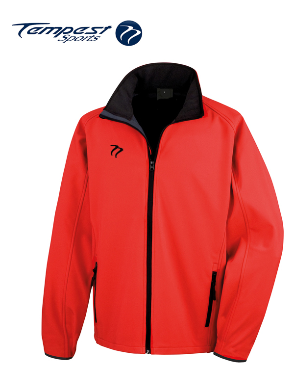Tempest Red Black Soft Shell Jacket