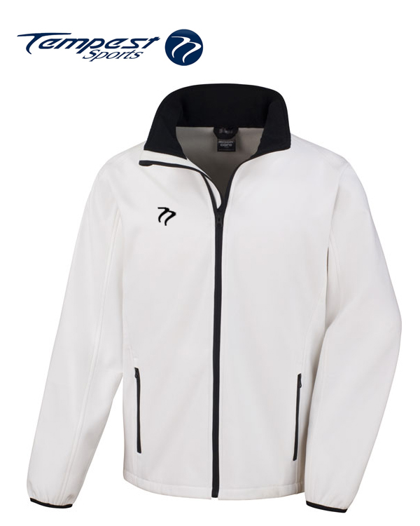 Tempest White Black Soft Shell Womens Jacket