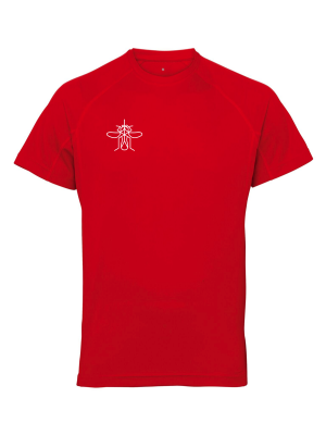 Men's Panelled Training T-shirt Red