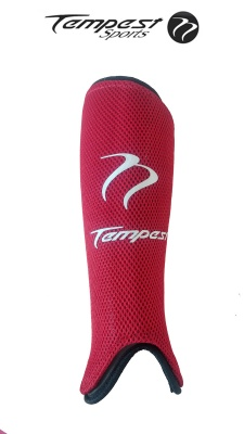 Tempest Red Shin Pads